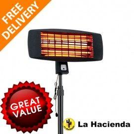 LA HACIENDA FREE STANDING PATIO HEATER  Quartz Elements  Instant Directed  Heat  3 Heat