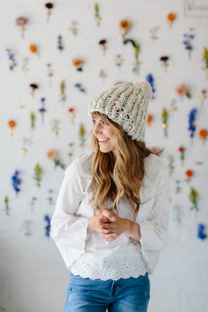 Free hat pattern alert! This adorable beginner hat pattern calls for ...