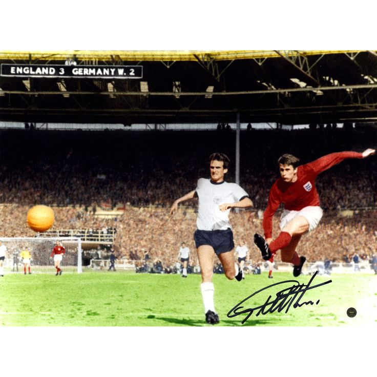 Sir Geoff Hurst Signed 12x16 Photo England vs Germany' Goal in 1966 World Cup final' ( Icons Auth & Third Party Holo)