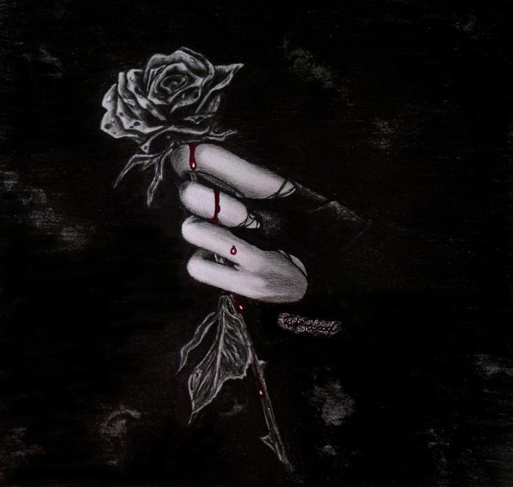 Blood Drop Black Rose Gothic Pinterest Blood Black