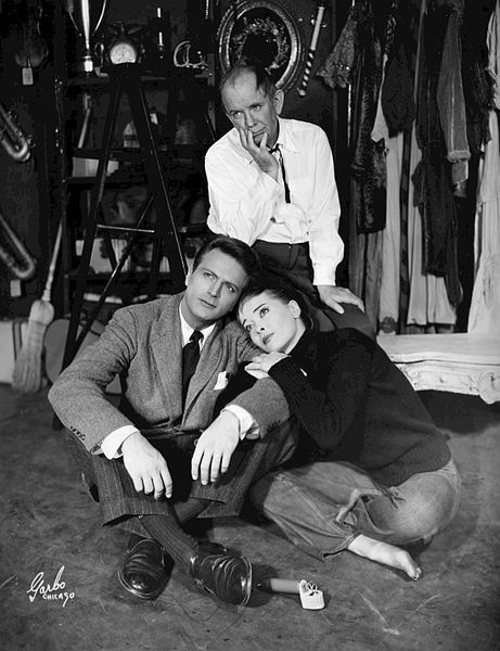 Herbert Evers, Joan McCracken and Eddie Dowling in Angel in the Pawnshop, 1951, public domain via Wikimedia Commons.