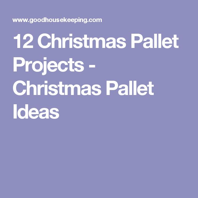 12 Christmas Pallet Projects - Christmas Pallet Ideas