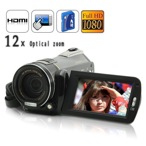 10.0MP 1080P HD 12X Zoom Digital Camcorder with Electronic Image Stabilization and HDMI Output