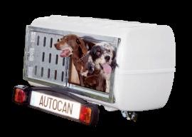 Wolder Remolques para transporte de animales · Autocan · universal, extensible  El cofre para perros que se engancha a la bola del coche. Es tan sencillo de instalar que una sola persona puede hacerlo en sólo dos pasos. Incluye suelo de goma para facilitar la limpieza y el confort del perro.