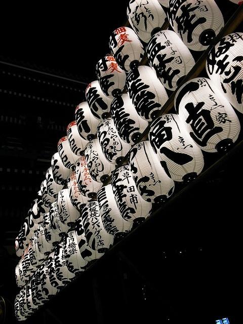 Paper lanterns in Asakusa, Tokyo, Japan