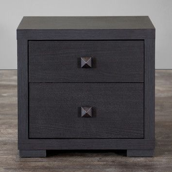 Wholesale Interiors Baxton Studio 2 Drawer Nightstand & Reviews | Wayfair