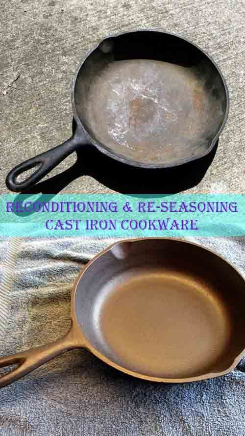 Reconditioning & Re-Seasoning Cast Iron Cookware ... if you don't have some, often times you can find great deals on cast iron cookware at yard sales or thrift stores.