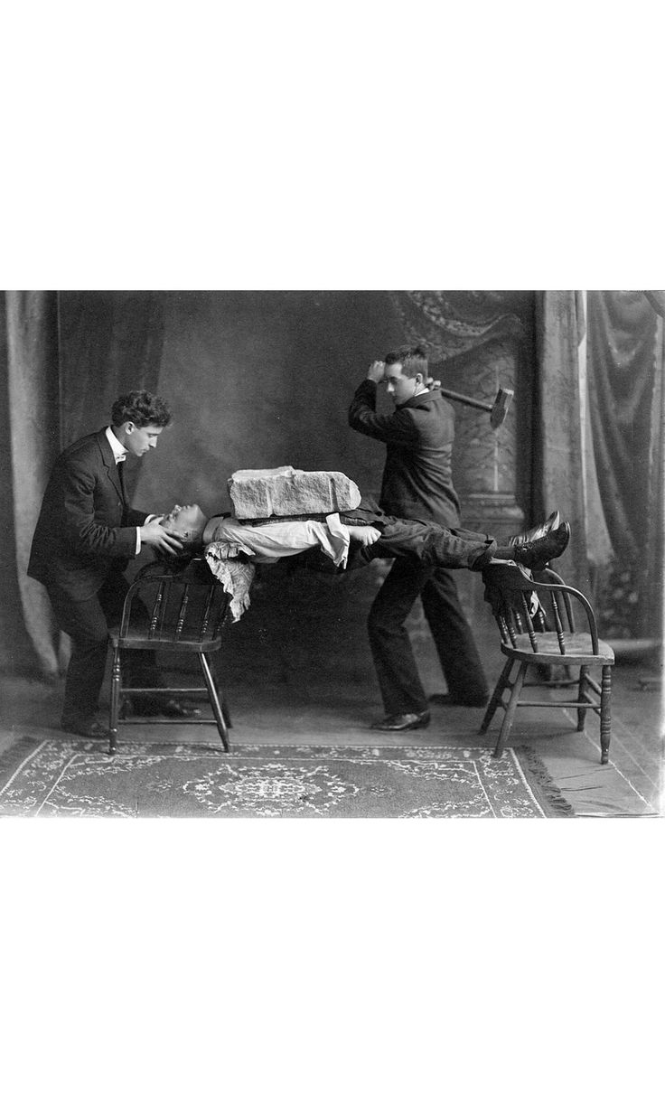 Norman Baker, Holding A Subjects Head, At A Demonstration Of His Hypnosis Treatment, 1900