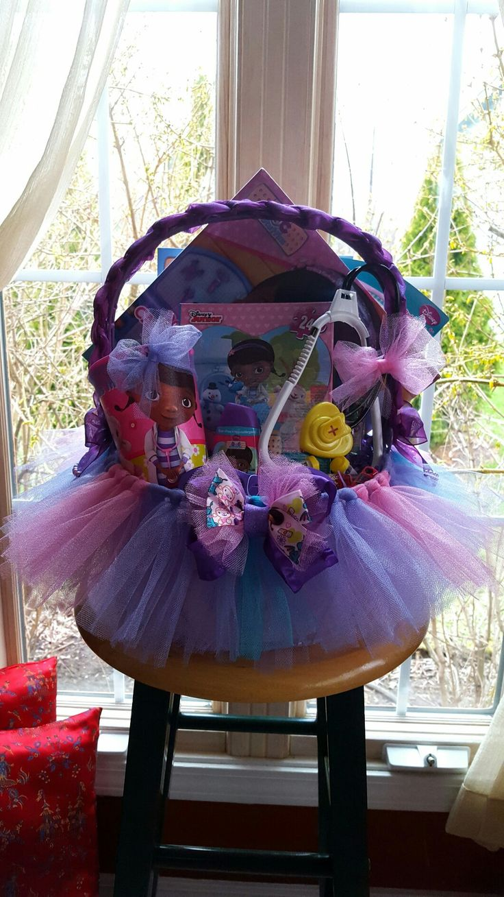 Doc McStuffins Tutu Gift Basket Made By Norma's Unique Gift Baskets $60