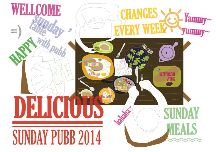 delicious table 2014 #seoul #sundaypubb brunch illust poster