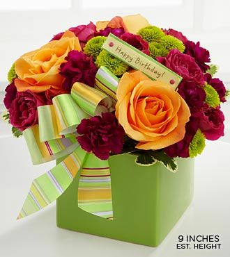 The FTD® Birthday Bouquet is a bright splash of birthday fun that will add that little extra something to their big day!