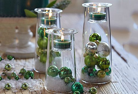 Christmas idea of Symmetry Pillar Holders from PartyLite