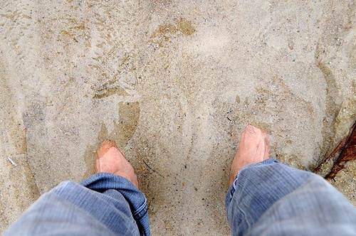 Soaked in sand, this photo was taken while I was in Bangka Island, Indonesia