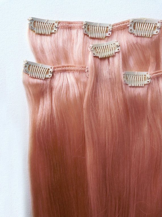 Rose Gold Hair Extensions 100 Remy By
