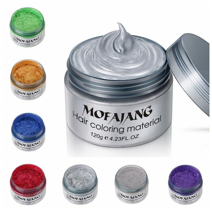 Colored Hair Wax Dye One-time Molding Paste  Seven Vibrant Colors  Apply In Seconds  Easily Washes Out  Hair Dye Wax  Instant Results