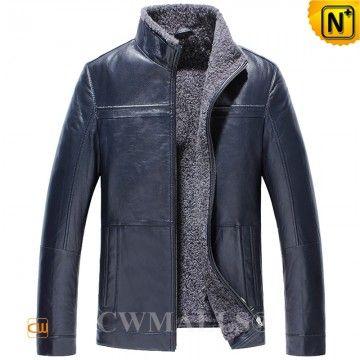 Mens Shearling Jacket CW836502 www.cwmalls.com