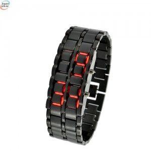 Dark Samurai - Japansk inspirert Rød LED klokke - LT84
