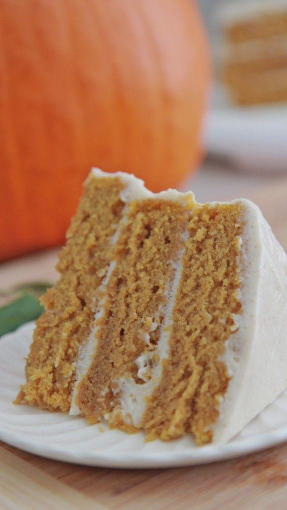 Easy Pumpkin Spice Cake Recipe w/ Cinnamon Cream Cheese Frosting   Divas Can Cook