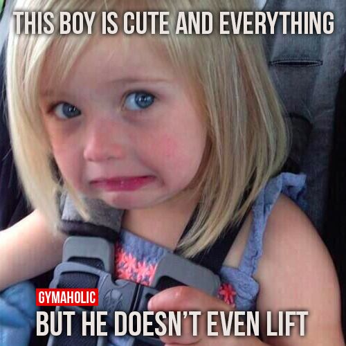 This boy is cute and everything. But he doesn't even lift …