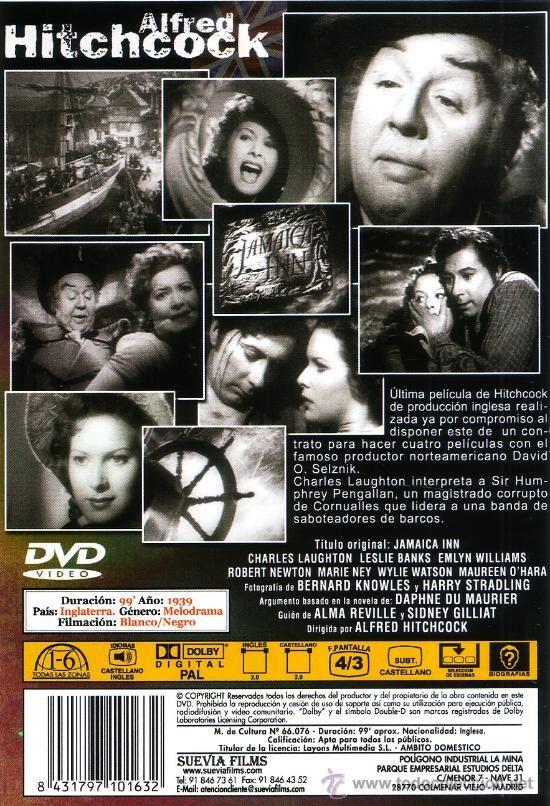 La posada de Jamaica / La posada maldita ( Jamaica Inn ) - de Alfred Hitchcock, 1939 - DVD