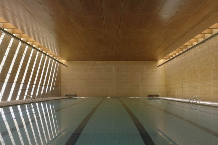 Repin from Ross Tag, Indoor Swimming Pool in Toro / Vier Arquitectos.  I can swim there for hours!! Bye assignment!