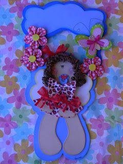 Qmimos - Fazendo Arte brincando: Girlanda Bebê Anjinha - Franci