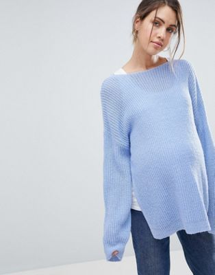 8aa49e6575388 DESIGN Maternity Nursing sweater with lace v back in 2019 | Fashion ...