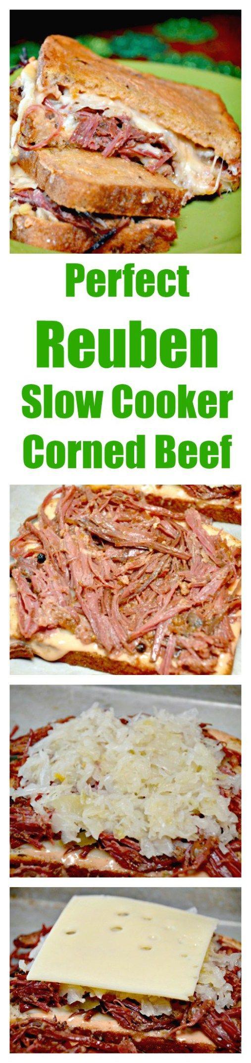 Crockpot corned beef Hash & Reuben Sandwiches perfect for St. Patricks Days