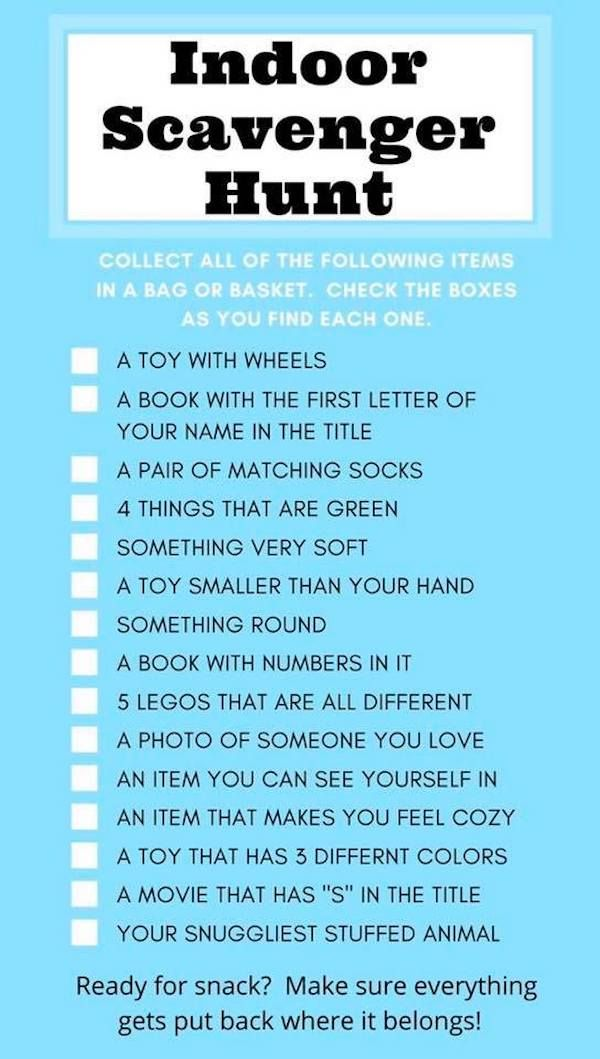 Outdoor Scavenger Hunt Ideas For Kids With Clues