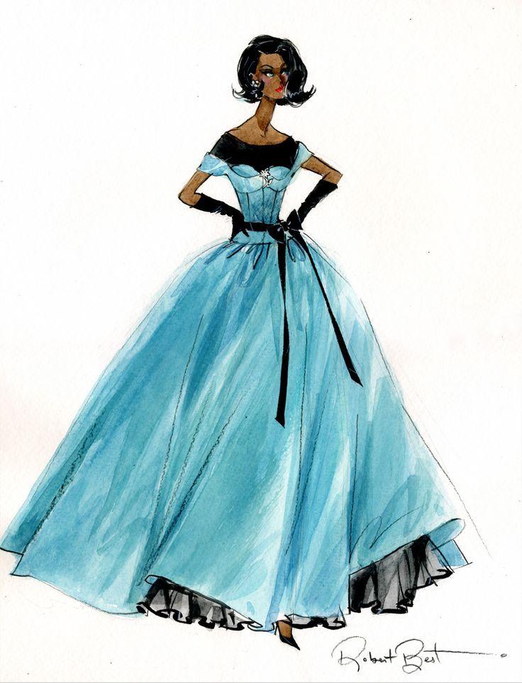 Silkstone Barbie Ball Gown Sketch By Robert Best Bfmc 2013 Fashion Illustration Fashion