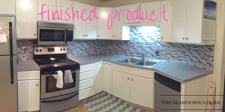 DIY Kitchen Backsplash with Sticky Tiles....Best by far DIY kitchen I have seen!! A must do!!!!