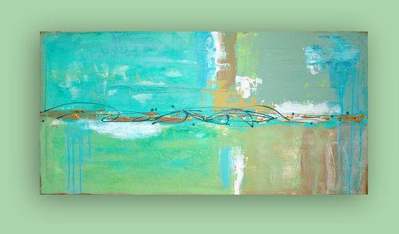 RESERVED. ORIGINAL ABSTRACT Beach Glass by OraBirenbaumArt on Etsy