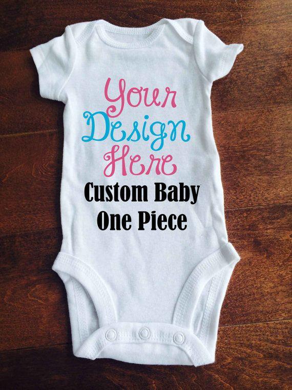 Custom Baby One Piece / Bodysuit / One piece / by MinnieMadeit