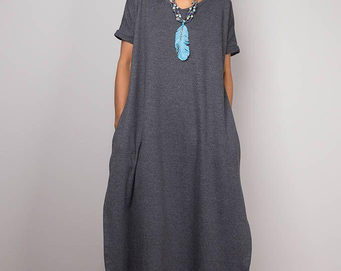Vestido gris, un vestido de línea, medio vestido de gris, vestido de manga corta, vestido gris, vestido gris, vestido de partido