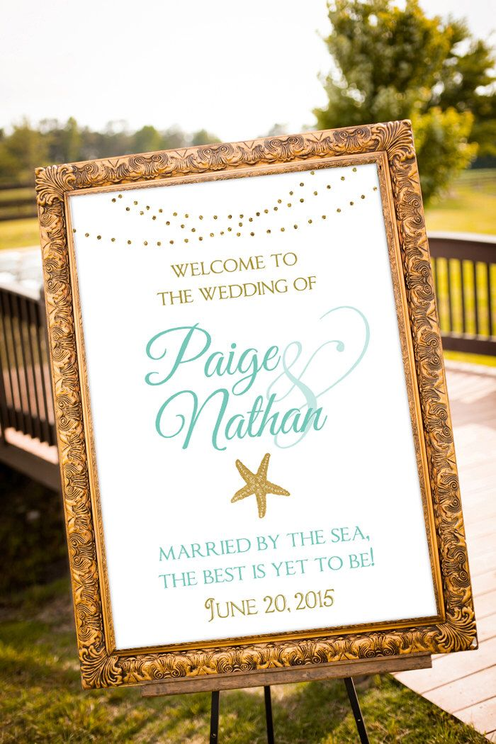 Beach Wedding Decor Teal Decorations Bridal Shower White And Gold