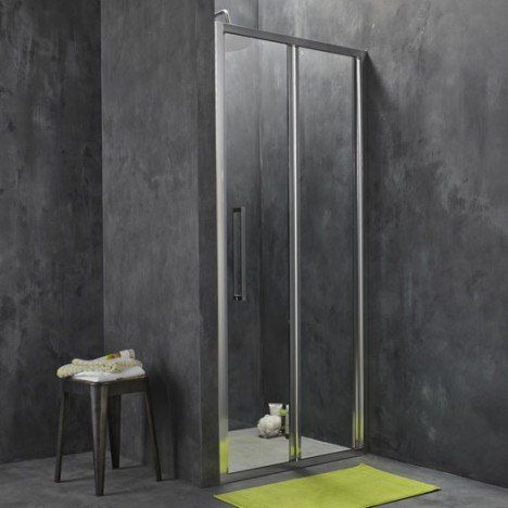 Porte de douche pliante 87.5/90.5 cm profilé chromé, Purity3