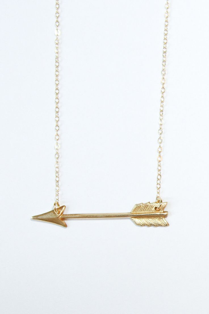 Gold arrow necklace - necklace. $38.00, via Etsy.--- I've always really wanted a…