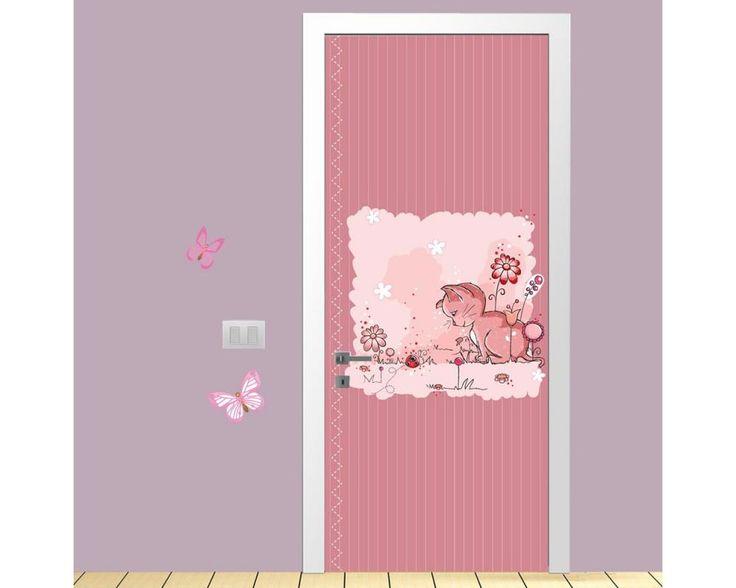 Kitty and ladybug,αυτοκόλλητο πόρτας παιδικό