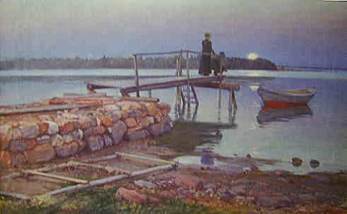 Tomteby Bridge / Bryggan vid Tomtebo 1919, Elin Danielsson-Gambogi (1861-1919)