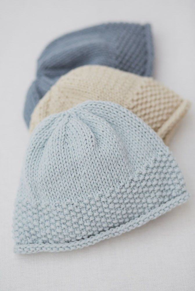 Knitted Baby Beanies Free Patterns : 17 Best images about Baby Knitting Patterns on Pinterest ...