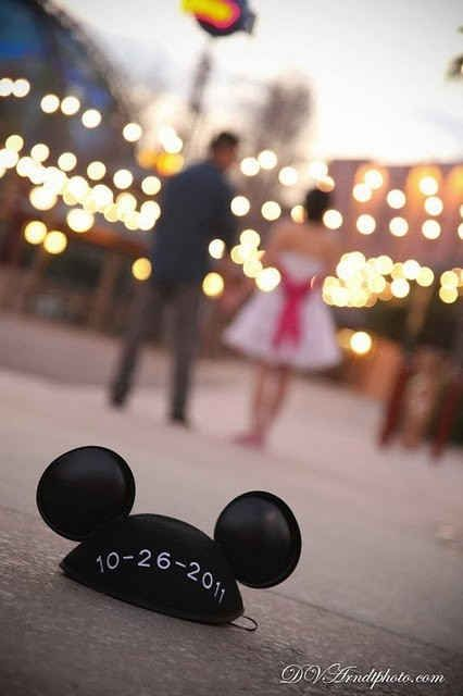 I may already be married, but this is the best engagement picture ever for a disney wedding to be! Maybe we'll do this when we renew our vows ;)