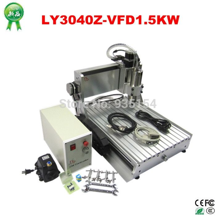 1224.00$  Buy here - http://alig6o.worldwells.pw/go.php?t=32332200605 - 3040 CNC Router 1.5KW spindle + 1.5KW VFD CNC cnc 3040 engraver engraving / drilling and milling machine, Russia NoTax!