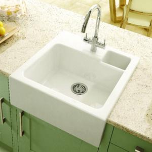 Wickes Single Bowl Butler Ceramic Sink White Kitchen