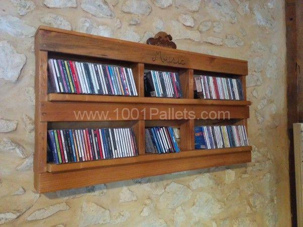 Pallet Cd Shelf Pallet Ideas Shelves Pallets And Storage