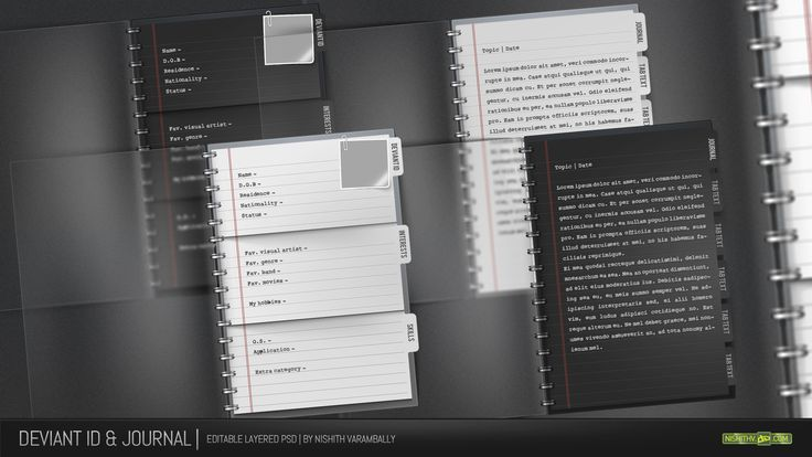 Journal and ID Template PSD by *NishithV on deviantART