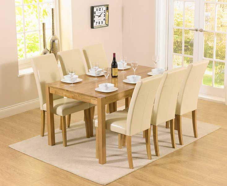 Shop The Oxford Solid Oak Dining Set With Albany Cream Chairs At Furniture Superstore Quick Delivery APR Available