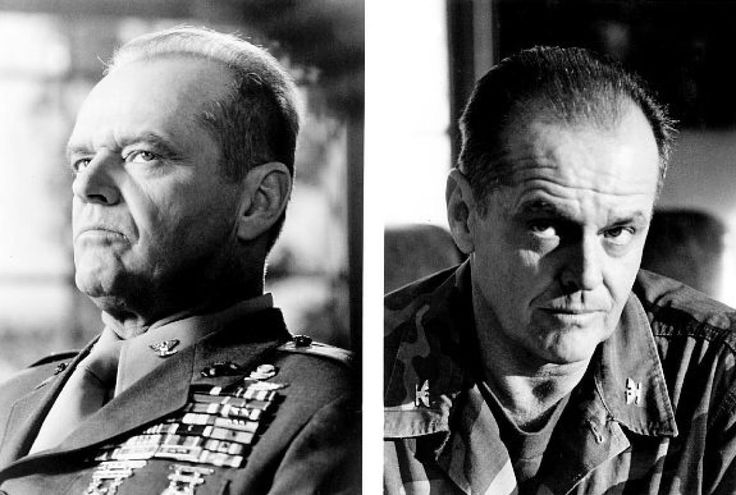 "A few images of Nicholson as a Marine colonel in ""A Few Good Men,"" where he told Tom Cruise that he couldn't ""handle the truth."""