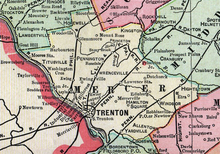 21 best images about historic new jersey county maps on for Mercedes benz of princeton lawrence township nj
