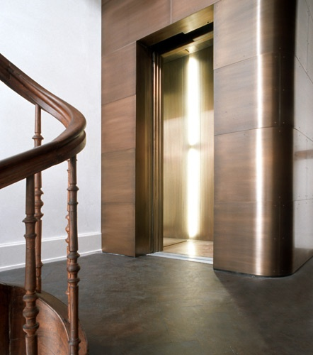 Copper elevator shaft