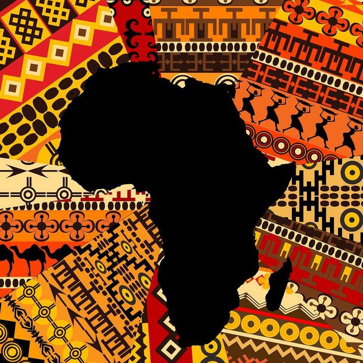 Africa map on ethnic background photo The